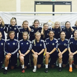 NI LADIES U17 VISITS SOCCER GENIUS
